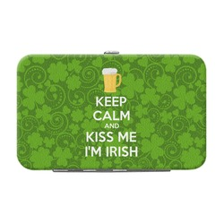 Kiss Me I'm Irish Genuine Leather Small Framed Wallet (Personalized)