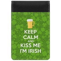 Kiss Me I'm Irish Genuine Leather Small Memo Pad (Personalized)