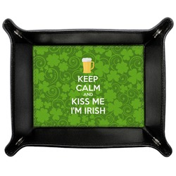 Kiss Me I'm Irish Genuine Leather Valet Tray (Personalized)