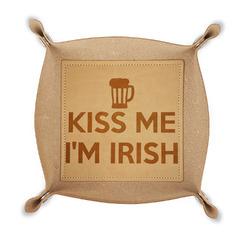 Kiss Me I'm Irish Genuine Leather Valet Tray