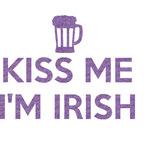 Kiss Me I'm Irish Glitter Sticker Decal - Custom Sized (Personalized)