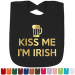 Kiss Me I'm Irish Foil Toddler Bibs (Select Foil Color) (Personalized)