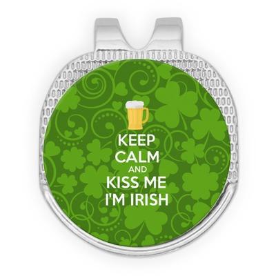Kiss Me I'm Irish Golf Ball Marker - Hat Clip