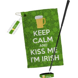 Kiss Me I'm Irish Golf Towel Gift Set (Personalized)