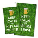 Kiss Me I'm Irish Golf Towel - Full Print