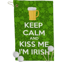 Kiss Me I'm Irish Golf Towel - Full Print (Personalized)