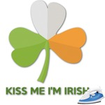 Kiss Me I'm Irish Graphic Iron On Transfer (Personalized)