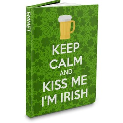 Kiss Me I'm Irish Hardbound Journal (Personalized)