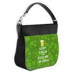 Kiss Me I'm Irish Hobo Purse w/ Genuine Leather Trim (Personalized)