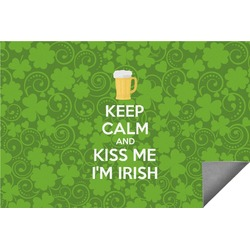 Kiss Me I'm Irish Indoor / Outdoor Rug (Personalized)