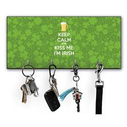 Kiss Me I'm Irish Key Hanger w/ 4 Hooks (Personalized)
