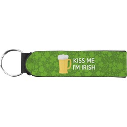 Kiss Me I'm Irish Neoprene Keychain Fob (Personalized)