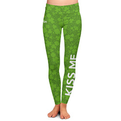 Kiss Me I'm Irish Ladies Leggings - Large (Personalized)