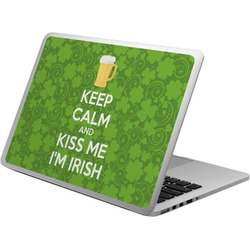 Kiss Me I'm Irish Laptop Skin - Custom Sized (Personalized)