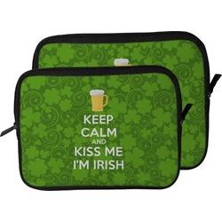 Kiss Me I'm Irish Laptop Sleeve / Case (Personalized)