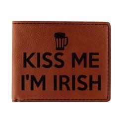 Kiss Me I'm Irish Leatherette Bifold Wallet (Personalized)