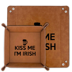 Kiss Me I'm Irish Faux Leather Valet Tray