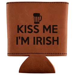 Kiss Me I'm Irish Leatherette Can Sleeve (Personalized)