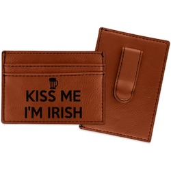 Kiss Me I'm Irish Leatherette Wallet with Money Clip (Personalized)