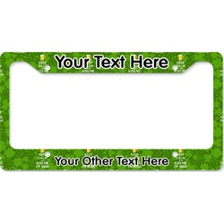 Kiss Me I'm Irish License Plate Frame (Personalized)