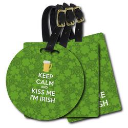 Kiss Me I'm Irish Plastic Luggage Tags