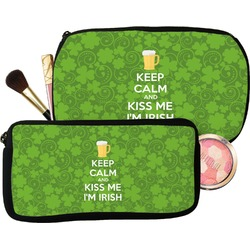 Kiss Me I'm Irish Makeup / Cosmetic Bag (Personalized)