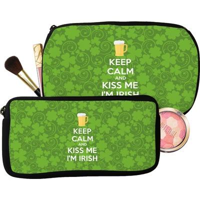 Kiss Me I'm Irish Makeup / Cosmetic Bag (Personalized)
