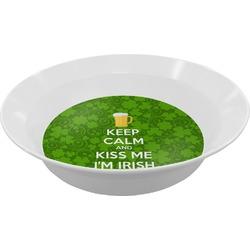 Kiss Me I'm Irish Melamine Bowl (Personalized)
