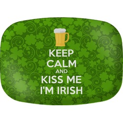 Kiss Me I'm Irish Melamine Platter (Personalized)
