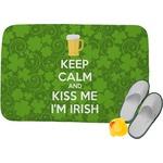 Kiss Me I'm Irish Memory Foam Bath Mat (Personalized)