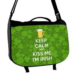 Kiss Me I'm Irish Messenger Bag (Personalized)