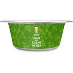 Kiss Me I'm Irish Stainless Steel Dog Bowl (Personalized)