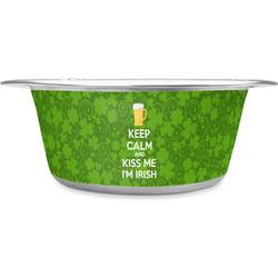 Kiss Me I'm Irish Stainless Steel Pet Bowl (Personalized)