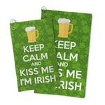 Kiss Me I'm Irish Microfiber Golf Towel