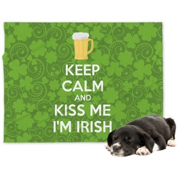 Kiss Me I'm Irish Minky Dog Blanket (Personalized)