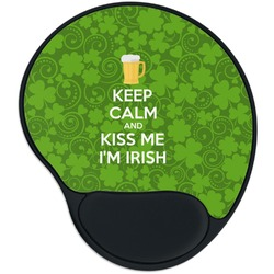 Kiss Me I'm Irish Mouse Pad with Wrist Support