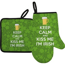 Kiss Me I'm Irish Oven Mitt & Pot Holder (Personalized)