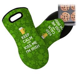 Kiss Me I'm Irish Neoprene Oven Mitt (Personalized)