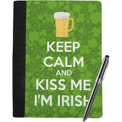 Kiss Me I'm Irish Notebook Padfolio (Personalized)
