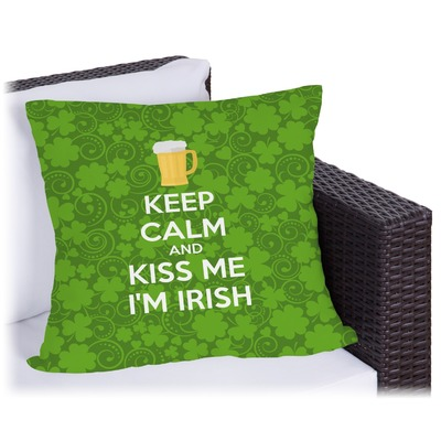 Kiss Me I'm Irish Outdoor Pillow (Personalized)