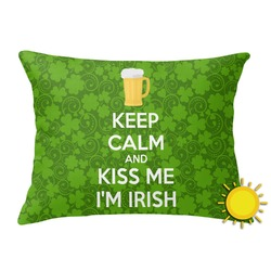 Kiss Me I'm Irish Outdoor Throw Pillow (Rectangular) (Personalized)