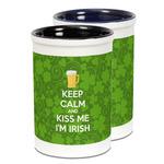Kiss Me I'm Irish Ceramic Pencil Holder - Large