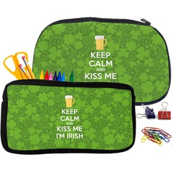 Kiss Me I'm Irish Pencil / School Supplies Bag (Personalized)