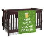 Kiss Me I'm Irish Baby Blanket (Personalized)