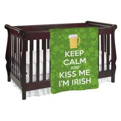 Kiss Me I'm Irish Baby Blanket (Personalized)