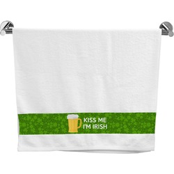 Kiss Me I'm Irish Bath Towel (Personalized)