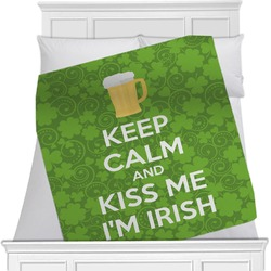 Kiss Me I'm Irish Minky Blanket (Personalized)