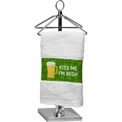Kiss Me I'm Irish Finger Tip Towel (Personalized)
