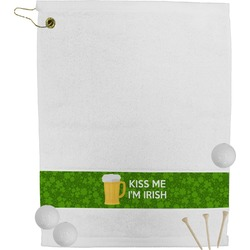 Kiss Me I'm Irish Golf Towel (Personalized)