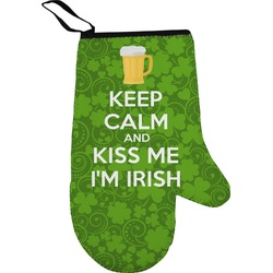 Kiss Me I'm Irish Right Oven Mitt (Personalized)